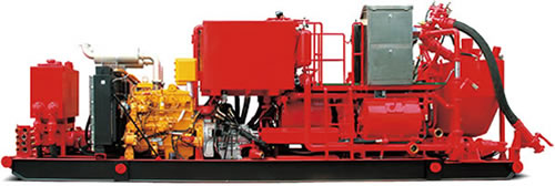 skid-mounted cementing unit