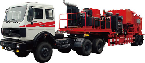 trailer-mounted cementing unit